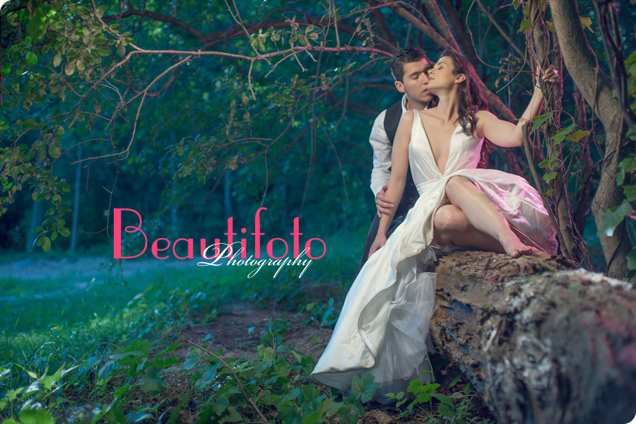 trash the dress photo shoot in the forst